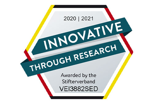 "Awarding the seal of approval ""Innovative through Research"""