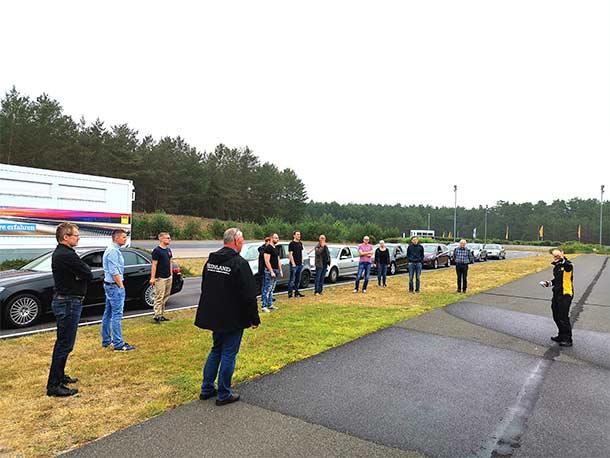 Team VEINLAND at driving safety training