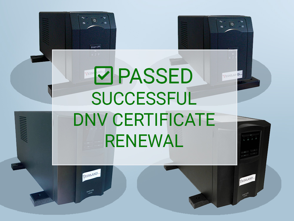 VEINLAND's Successful DNV Certificate Renewal for UPS Systems